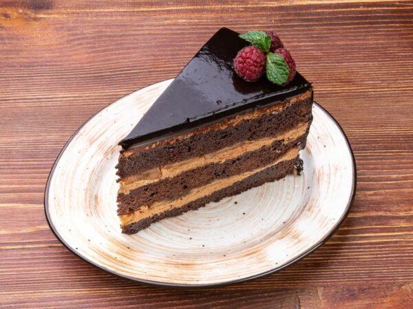 Шоколадно - банановый торт